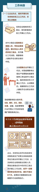 一图看懂《农民工稳就业职业技能培训计划》