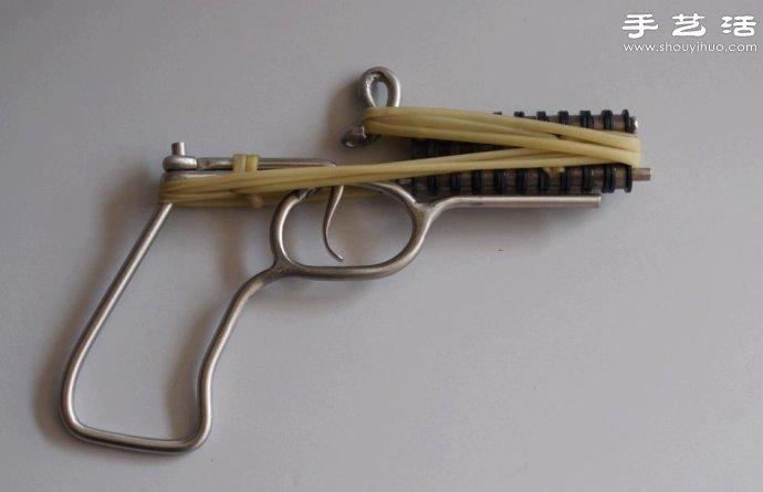 火柴枪的制作方法 自行车链条枪制作图解