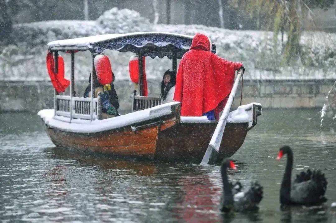 睁眼遇暖阳,回眸看白雪!来与台儿庄的冬撞个满怀吧~