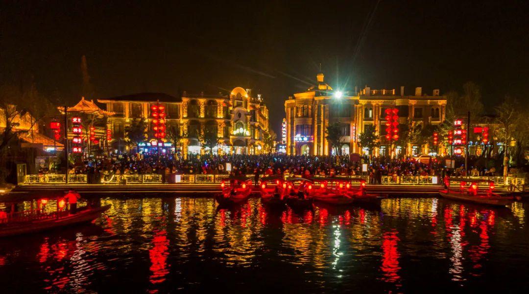 曝光!台儿庄古城的夜景就是这么美!
